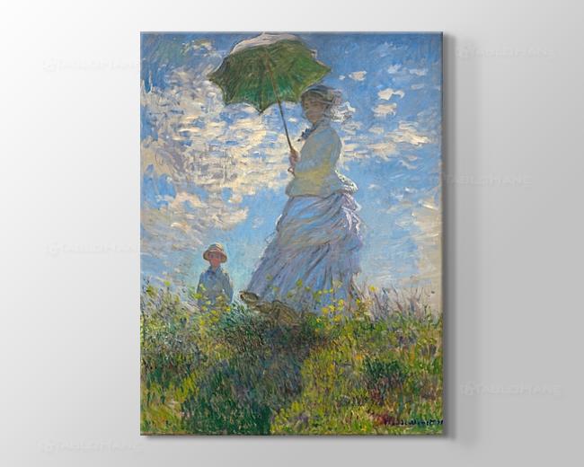 Claude Monet Şemsiyeli Kadın Tablosu
