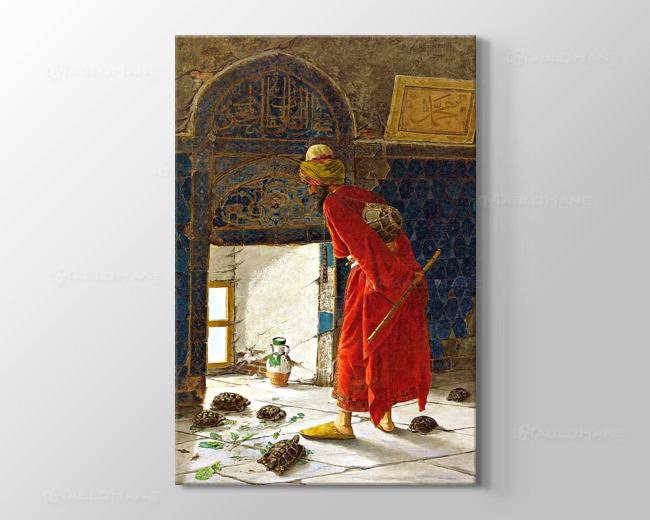 Osman Hamdi Bey Kaplumbağa Terbiyecisi Tablosu