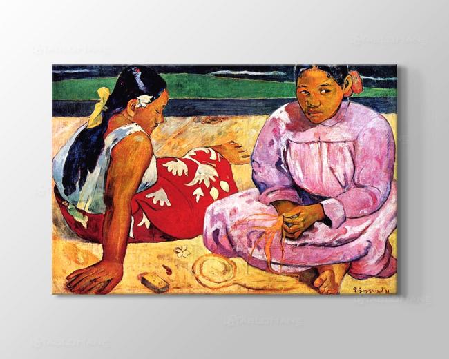 Paul Gauguin: Tahitili Kadınlar Otururken Tablosu